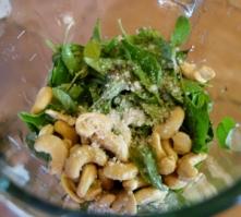 Making vegan pesto